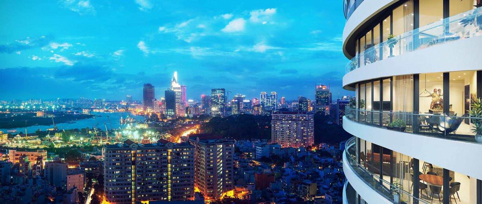 View nhìn trung tâm Sài Gòn