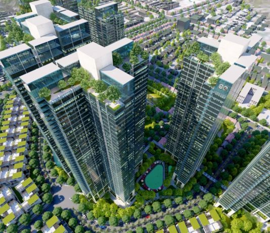 Thiết kế tòa tháp hình cánh quạt tại Sunshine City Sài Gòn